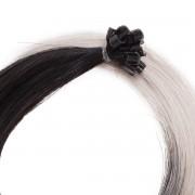 Rapunzel® Extensions Naturali Nail Hair Original Liscio 1.2/10.5 Black Brown Grey 40 cm