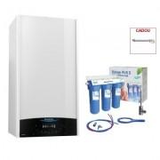 Produs cadou la Pachet centrala termica in condensare Ariston Genus One 24 EU 24 kW + filtru de apa potabila Valrom PUR 3 UF. 5 ani garantie