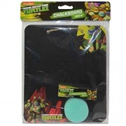 Nickelodeon Teenage Mutant Ninja Turtles 3pc Kids Chalkboard Set! Includes Chalk & Eraser!