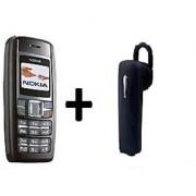 Refurbished Nokia 1600 Black with Bluetooth (1 Year Warranty By Warranty Plaza )