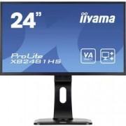 Iiyama LED monitor Iiyama ProLite XB2481HS-B1, 59.9 cm (23.6 palec),1920 x 1080 px 6 ms, VA LED VGA, DVI, HDMI™