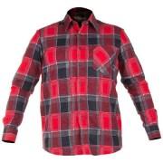 CAMASA LUCRU FLANEL CU CAROURI ROSII - 2XL/H-188