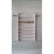 Porte Queues Mural 6 Queues Blanc