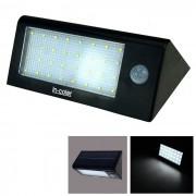5.5V 2.2W 32 LED de Energia Solar PIR Motion Sensor Light - Blanco + Negro