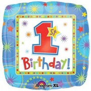Anagram International Hx One-Derful Birthday Boy Foil Balloon Multicolor