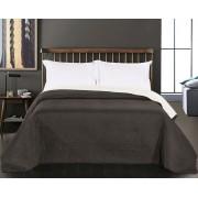 Ágytakaró, ágyterítő 240x260 cm fekete - fehér, kétoldalas