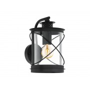 Lampa perete HILBURN negru 220-240V,50/60Hz IP44