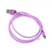 Gizmobitz Data Charging Cable Metal Fish Net for Micro-USB Cable - Purple