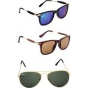 Rich Club Cat-eye, Aviator Sunglasses(Brown, Blue, Green)