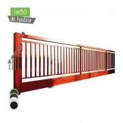 Portail BarrO+ Coulissant Ht 1m50 - Couleur - Noir 9005, Hauteur - Ht 1m50, Passage - 14m00