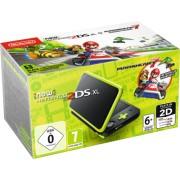 New Nintendo 2DS XL black Lime green incl. Mario Kart 7