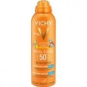 Vichy Idéal Soleil Capital spray cu protecție solară anti-nisip pentru copii SPF 50+ 200 ml
