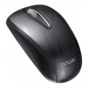 Mouse, Delux M107GX+G07UF, USB, Black ( DLM107GX)