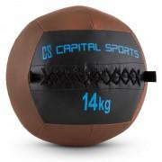 Wallba 14 Wall Ball 14 kg Kunstleer bruin