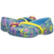 Crocs Lina Graphic Flat (ToddlerLittle Kid) Electric Blue