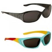 Yellow Mango Rectangular, Sports Sunglasses(For Boys & Girls)