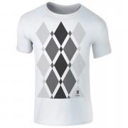 Men's Begbie Grey Pattern T-Shirt - White - M - White