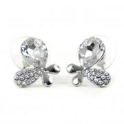 Alysa Swarovski kristályos fülbevaló - Áttetsző Pillangó