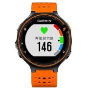 Ceas activity outdoor tracker Garmin Forerunner 235, GPS, HR monitor, Rezistent la apa 5 ATM (Negru/Portocaliu)