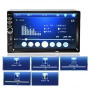 "Player Multimedia Auto 2DIN Display 7"" HD TouchScreen, Bluethoot"