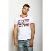 Epatage Мужская футболка из хлопка с принтом белого цвета Epatag RT020442m-EP