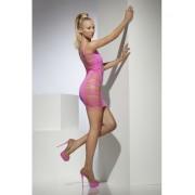 Rochie mini Slashed roz neon