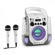 Auna Kara Liquida Equipo de karaoke CD USB MP3 Chorro de agua LED 2x Micrófono móvil