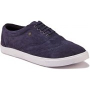 JUMP USA Men's Chester Wingtip leather Sneakers For Men(Navy)