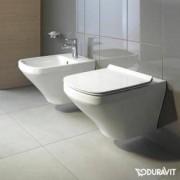 Duravit DuraStyle Wand-Tiefspül-WC Set mit SoftClose WC-Sitz und Durafix 45520900A1