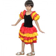 Kaku Fancy Dresses Flamiingo Girl Costume For Kids Western Dance/School Annual function/Theme Party/Competition