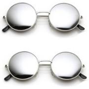 Lee Topper Aviator Sunglasses(Silver)