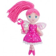23cm Pretty fairy magic mini dolls with star wand shining wings red princess doll.