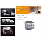 Cassaforte/Cassetta di sicurezza a scomparsa/mimetica finta presa elettrica CAMALEONTE - Mod. 1 cassetto + ripiano