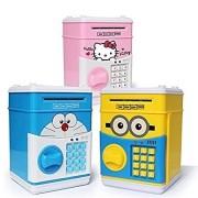 Kartsasta House of Fun Mini Piggy Bank Safe Box Money Coin ATM Bank Toy ATM Machine Kids Gift Money Box Digital Saving Boxes