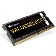 Памет Corsair DDR4, 2400MHz 8GB (1 x 8GB) 260 SODIMM, Unbuffered,16-16-16-39, Black PCB, 1.2V, CMSX8GX4M1A2400C16