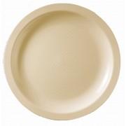 Plato de Plastico Llano Crema Round PP Ø185mm (600 Uds)