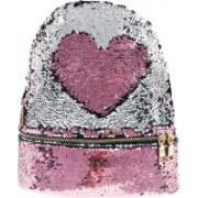 RackJack Magic Sequins Reversible Colour Changing Pink to Silver Fashion Back Pack Mermaid Scale Bag for Girls Women Backpack(Multicolor, Silver, Pink, 10 L)