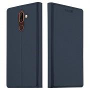 Bolsa Slim Flip para Nokia 7 Plus com Ranhura para Cartão - Azul Escuro