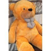 5 Feet Golden Brown Teddy Bear with a Bow