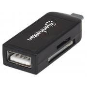 Mini Lettore di Memorie SD/MicroSD/USB F per Smartphone e Tablet