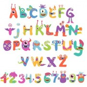 alphabet and number chart Alphabets and numbers Educational Poster for Kids Learning wall sticker paper poster