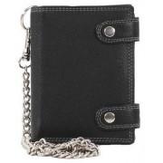Migant Läderplånbok NP05 svart med kedja