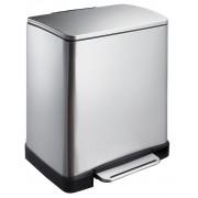 Кош за разделно събиране на отпадъци с педал Eko E-Cube, 10 + 9 л - мат