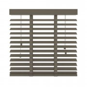 Horizontale jaloezie hout 50 mm - taupe - 160x180 cm - Leen Bakker