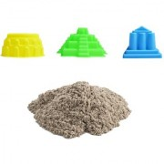 UNTOLD 500GM MAGIC SAND | COLORFUL SAND WITH 3 PIECE MOLDS - BROWN COLOR