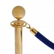 Jansen Display Modrý provaz na barierový sloupek, zlaté koncovky modrá