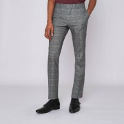 River Island Mens Brown check super skinny suit trousers (Size 30 regular)