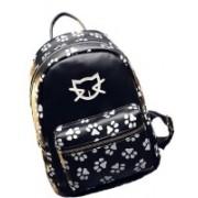 Un Branded Casual Backpacks Cat Footprints Unisex School & Travel Bags Backpack(Black, 15 L)