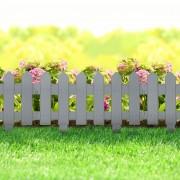 Virágágyás szegély / kerítés – szürke 40,5 x 29,5 cm