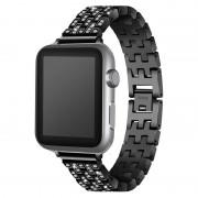 Bracelete Luxuoso em Aço Inoxidável para Apple Watch - 38mm - Preto
